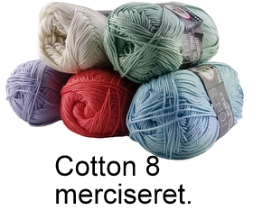 Mayflower cotton 8 merciseret bomuld