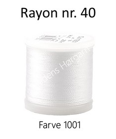 Madeira Rayon nr. 40 farve 1001 hvid